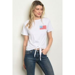 Tops - 🇺🇸ARRIVED!🇺🇸 White tie made in the USA top